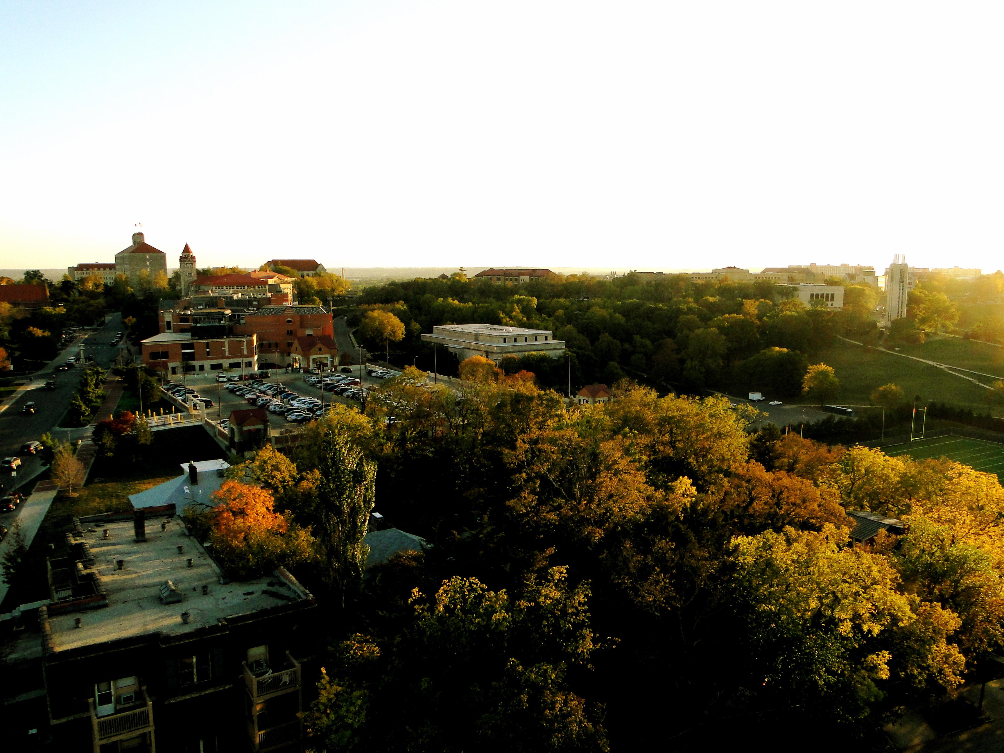 campus @ dusk.